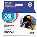 Epson - T099920 (99) Claria Ink, 450 Page-Yield, 5/Pack, Assorted - EPST099920