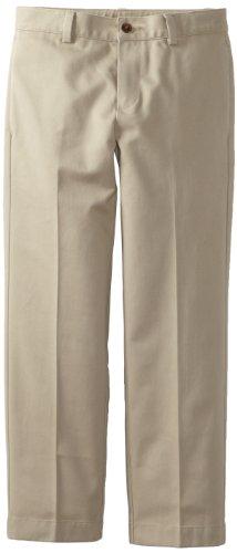 Brooks Brothers Little Boys' Uniform 8-20 Plain Front Advantage Chino, Dark Brown, 14