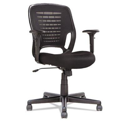 Swivel/Tilt Mesh Task Chair, Height Adjustable T-Bar Arms, Black, Sold as 1 (Height Adjustable T-bar Arms)