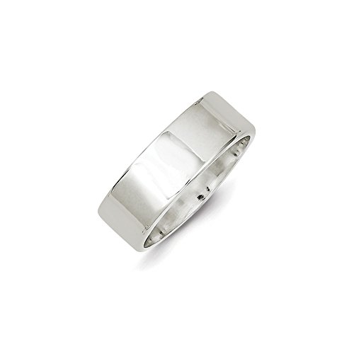 Sterling Silver 7mm Flat Band - 8