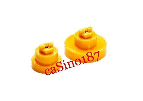 [해외](미국 선박) 2 x 500 600 700 시리즈 룸바 옐로 부싱 브러시 엔드 베어링 595 620 650 780/(Ship from USA) 2 x 500 600 700 series Roomba Yellow Bushings Brush End Bearings 595 620 650 780