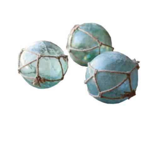 Kalalou Antique Glass Float, One Size, Blue