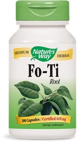 Nature's Way Fo-Ti Root, 100 Capsules, 610mg (Pack of 2)
