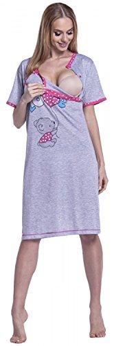 Allattamento Prémaman da Happy Camicia Mama Fucsia Gravidanza Donna Carina Notte 141p XqEp1Sx8pw