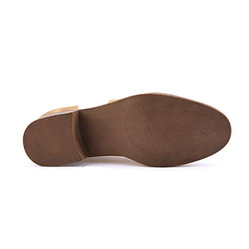 Zapatillas Planas Cortadas Del Lado Del Dedo Del Pie Puntiagudo De Huiyuzhi Para Mujer Botín De Tobillo (compre Un Tamaño Más Bajo) Taupe