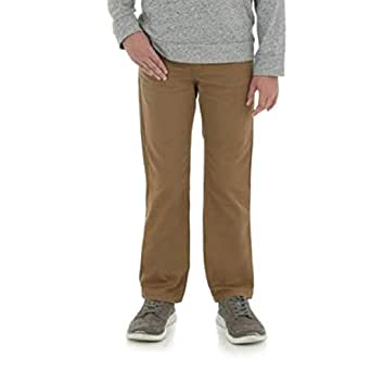 Wrangler Boys Slim Straight Flex Khaki Jeans Little Boys, Big Boys