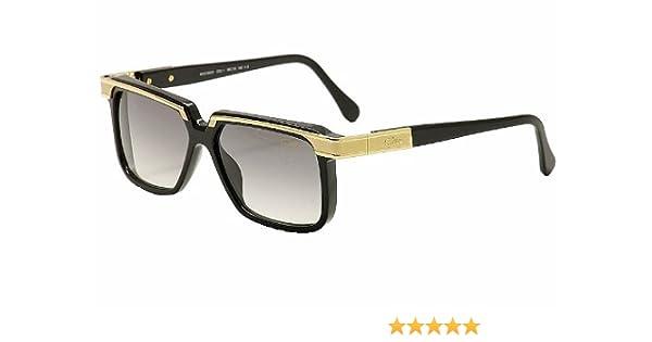 c27834b3df0 Amazon.com  Cazal Legends 650 001SG Shiny Black Gold Square Full Rim  Sunglasses 58MM  Cazal  Clothing