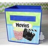 Movies Fabric Bin Boy's Bedroom Baby Nursery Organizer for Toys or Clothing FB0067