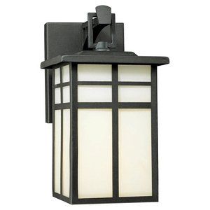 Thomas Lighting SL91047 Mission Collection 1 Light Outdoor Wall Sconce, Matte Black