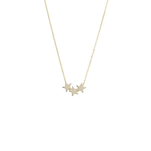 S.J JEWELRY Fremttly Womens Simple Delicate Full Moon 14K Gold Filled Layered Pendant Handmade Necklaces-Star