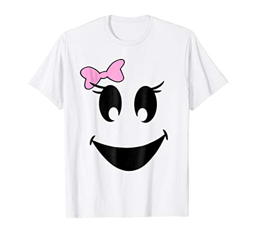 Cute Girl Ghost With Bow Ghoul Face Halloween
