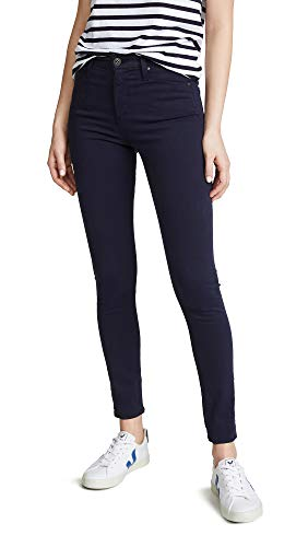 Cotton Sateen Ankle Length Pant - AG Women's The Farrah Skinny Ankle Jeans, Indigo Ink, Blue, 27