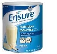 Abbott Nutrition Ensure Powder Vanilla, 14-Ounce