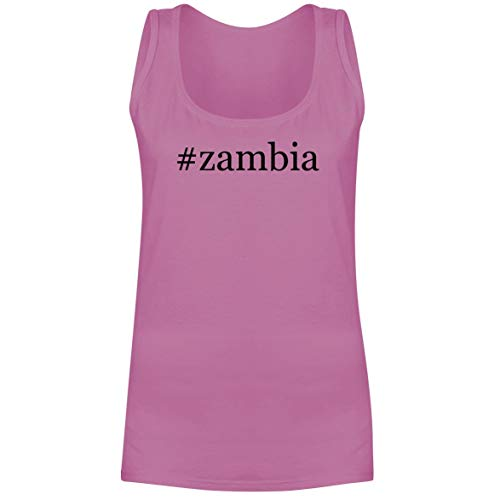 The Town Butler #Zambia - A Soft & Comfortable Hashtag Women's Tank Top, Pink, X-Large
