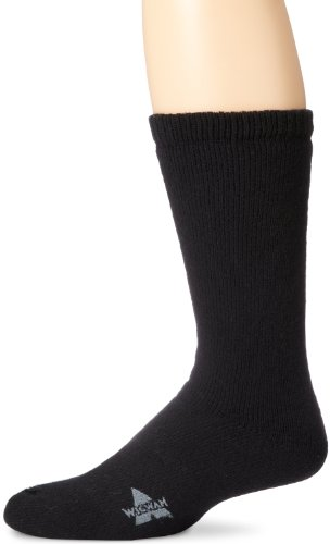 Wigwam Men's 40 Below Heavyweight Boot Socks, Black, Large (Sock Heavyweight Mens Boot)