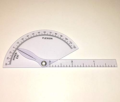 (Finger Goniometer, Professional Grade, Finger, Hand, Range of Motion Protractor, Flexion to Hyper-Extension, By SimpleGeek)