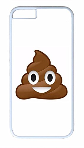 Deal Market LLC - Emoji Brown Poo Poop Funny -Black Rubber for Apple iPhone 8 (4.7 inch) - Made and Ships from USA