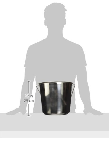 Indipets Heavy Duty Stainless Steel Pail, 13-Quart by Indipets (Image #1)
