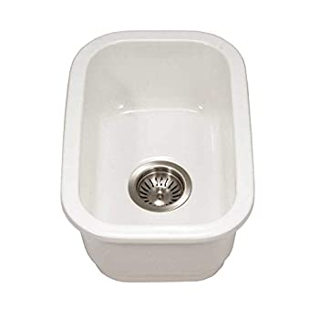 Image of Houzer PTB-1318 WH Fireclay Bar Sink, White Home Improvements