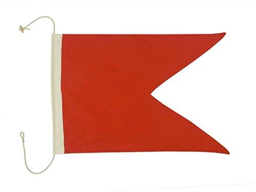 "Hampton Nautical Letter B Nautical Cloth Alphabet Flag, Decor, Home Decoration, Wall Art Tool, 20"""