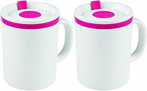 Copco Iconic Desk Mug, 16 Ounce, Pink