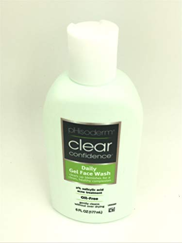 Phisoderm Clear Confidence Daily Gel Face Wash Oil Free 6 Oz
