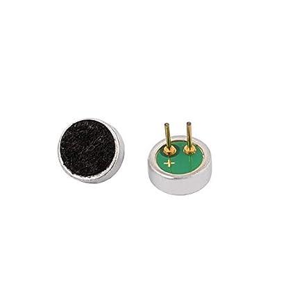 Amazon.com: eDealMax 2pcs recogida 6x2mm 30-32dB micrófono de condensador electret de alta sensibilidad: Electronics