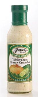 Braswell Vidalia Onion Creamy Cucumber Dressing 12 oz Bottle (Pack of 2) (Creamy Vidalia Onion Dressing)