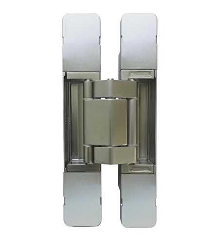 KT3D-190 Invisible Hinge, Set of Two(2), Up to 220lbs. Doors, Concealed and Streamline Door Hinge, 3-D Adjustable (Up to 220lbs) (Invisible Hinge)