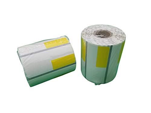 Zebra 2 5/8 x 1 1/8(2.25 x 1.25) inch Direct Thermal Polypropylene Labels 4000D, Yellow(Left Top) Price tag, Direct Thermal Label, 500 Per Roll, 24 Rolls/Box by VisionTechShop (Image #2)