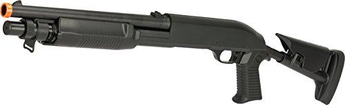 Evike - CYMA M3 3-Round Burst Multi-Shot Shell Loading Airsoft Shotgun (Model: Retrac Stock CQB)