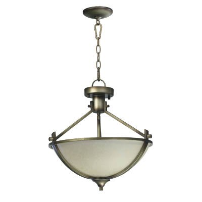 Quorum 2829-18-22 Winslet - Three Light Semi-Flush Mount, Antique Flemish Finish