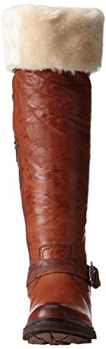 Frye Dames Valerie Shearling Over-the-knee Rijlaars Cognac-75006