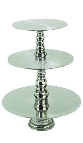 Deco 79 Aluminum 3-Tier Cake Stand, - Tier Aluminum Stand
