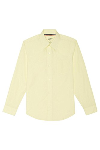 French Toast Boys' Big Long Sleeve Classic Dress Shirt, Yellow, YL