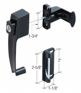 Black Screen and Storm Door Push Button Lock 1-3/4'' Screw Holes