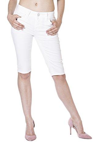 Monkey Jeans Mujer Blanco Vaqueros Para Capri Blue Básico fqHdfx