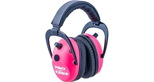 Pro Ears - Predator  Gold - Hearing Protection and Amplfication - NRR 26 - Contoured Ear Muffs - Pink