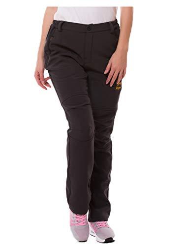 SEFON Women's Outdoor Waterproof Sport Pants Fleece Insulated Ski Softshell Windproof Pants(Dark Grey,US - Womens Ski Pants Size 18