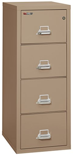 - FireKing Fireproof Vertical File Cabinet (4 Legal Sized Drawers, Impact Resistant, Water Resistant), 52.25