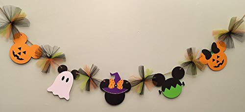 Mickey inspired Halloween Banner, Mickey and Minnie inspired Halloween decorations, Halloween decorations for kids]()