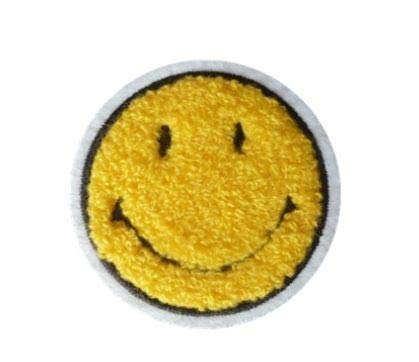 Funny Smiley Smile Happy Yellow Face DIY Applique Embroidered Sew Iron on Patch SM-005 ()