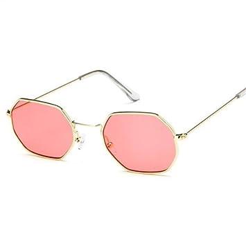 GGSSYY Gafas de Sol Hexagonales Mujeres Hombres Lentes de ...