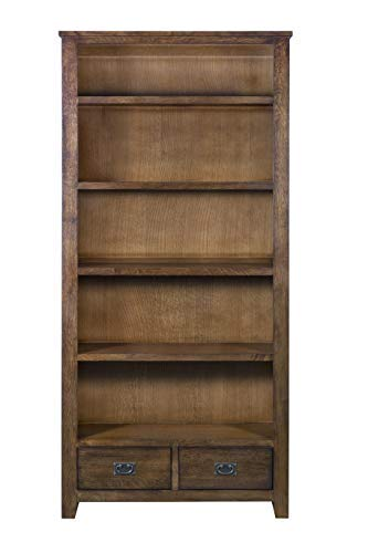 Amazon Com Mission Quarter Sawn Oak Bookcase With 2 Drawers Open