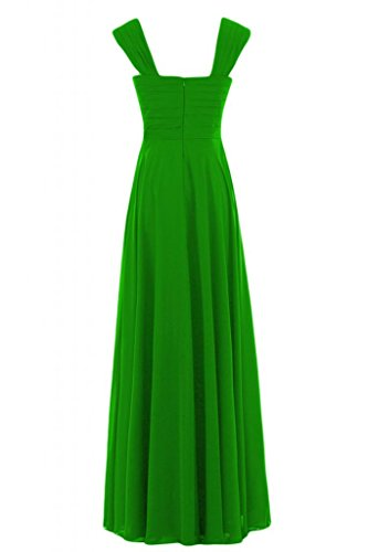 Empire scollo Bridesmaid Pageant chiaro Verde lungo Charming con Sunvary abito a V Gowns zq1I57Hw