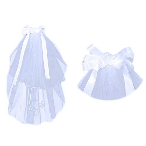 (First Communion Veil (Bow, Ribbon and Flower))