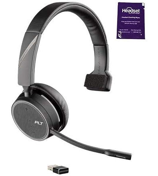 Amazon Com Plantronics Voyager 4210 Uc Wireless Headset Bundle With Headset Advisor Wipe Electronics