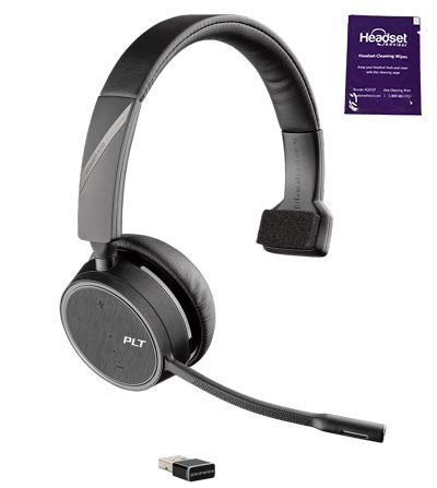 Plantronics Voyager 4210 UC Wireless Headset Bundle with Headset Advisor Wipe