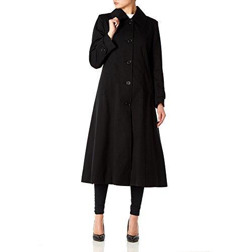 *SS13* Frühlings Mantel Lang Übergröße Für Damen Frauen Schwarz