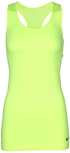 Nike Women's Dri-Fit Pro Hypercool Limitless Training Tank Top-Neon Yellow-Large